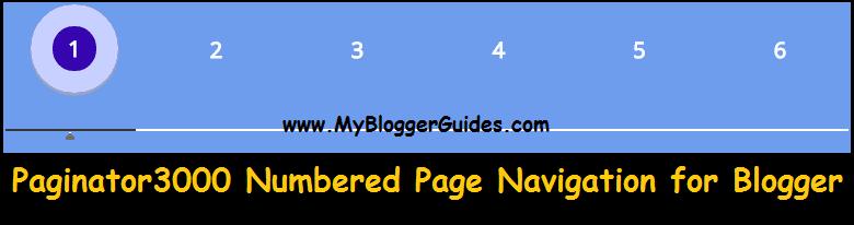 Numbered Page Navigation Widget for Blogger, Pagination Widget for Blogger/BlogSpot