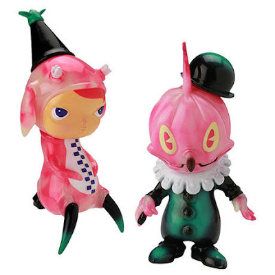 Stingy Jack & Calliope Jackalope Pink Glow in the Dark Swirl Edition Vinyl Figures by Kathie Olivas & Brandt Peters