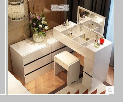 Latest modern corner dressing tables for small bedroom designs 2018