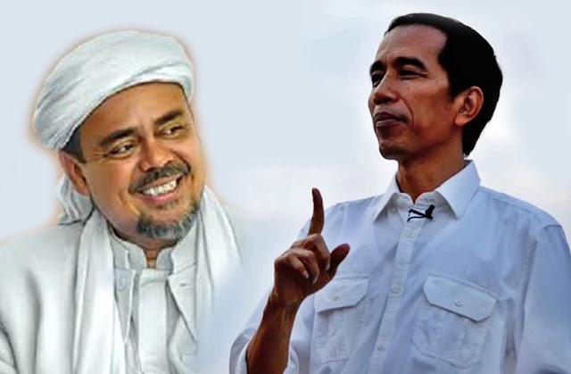 Hasil gambar untuk jokowi vs rizieq shihab