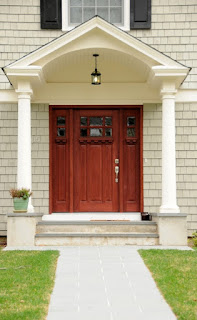 The front entrance to a home