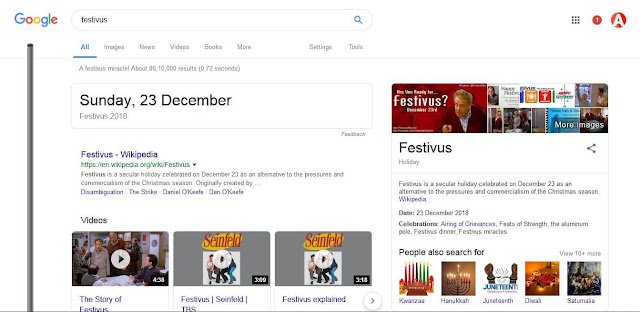 festivus google trick