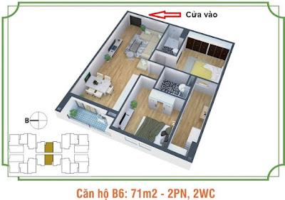Mặt bằng căn hộ B6