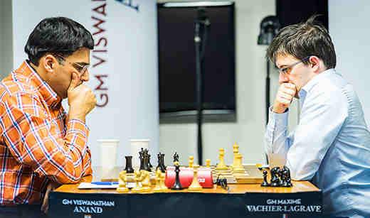 Ronde 2: L'indien Viswanathan Anand va tendre un piège à Maxime Vachier-Lagrave et marquer le point - Photo © Lennart Ootes