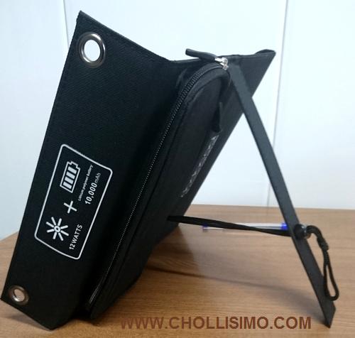 dodocool Cargador Panel Solar Plegable 12W 10000mAh Batería externa