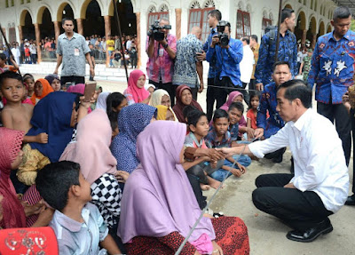 Presiden Jokowi Mengunjungi Posko Pengungsian Gempa Lombok Hari ini!