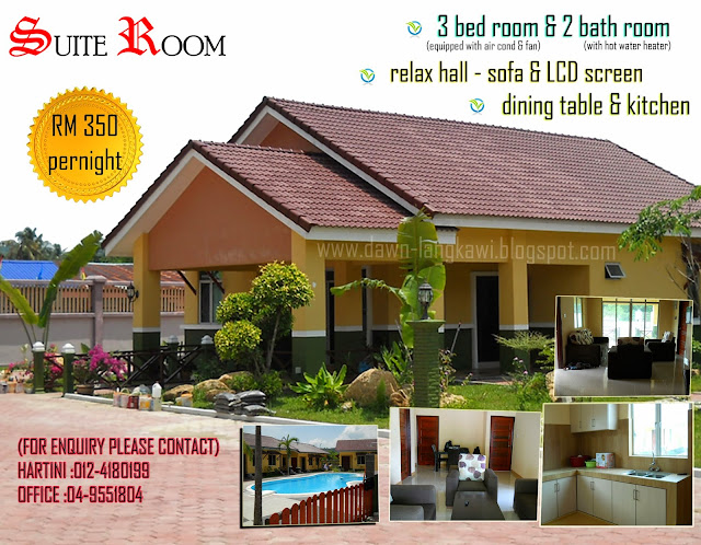 Dawn chalet homestay permata langkawi travellers - Homestay langkawi with swimming pool ...