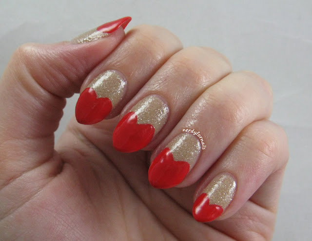 Valentine's Day Nails- Heart Shaped