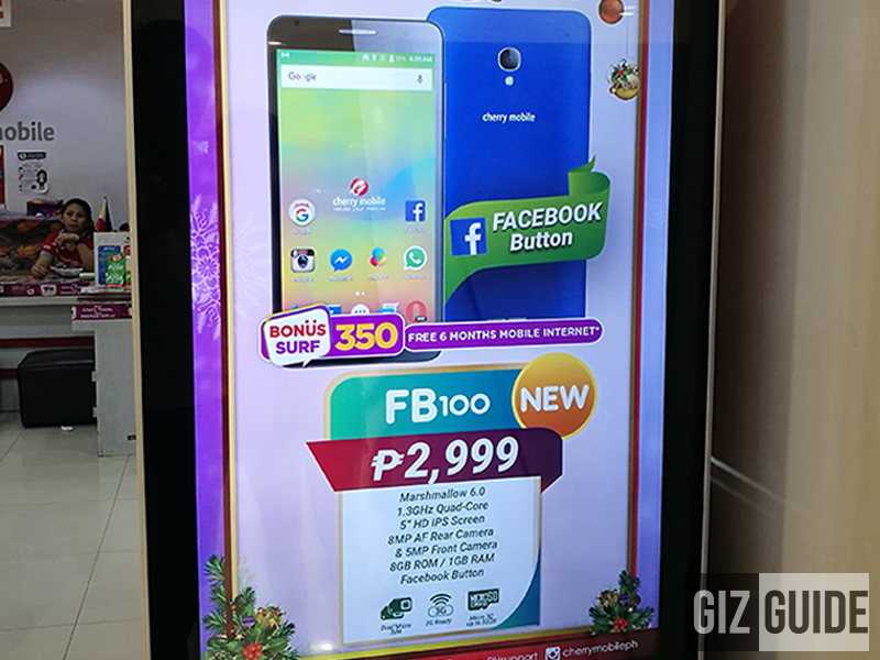 Cherry Mobile FB100 With Facebook Button To Launch Soon, Priced At PHP 2999!