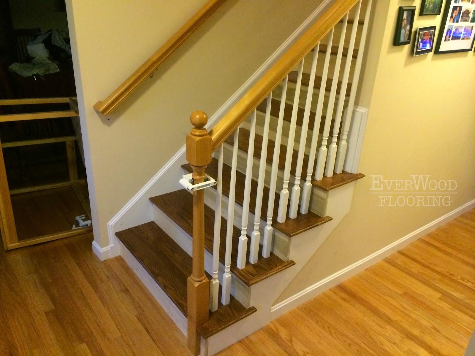 Everwood Flooring Project Profiles Prefinished Oak   Custom Oak Stair Treads
