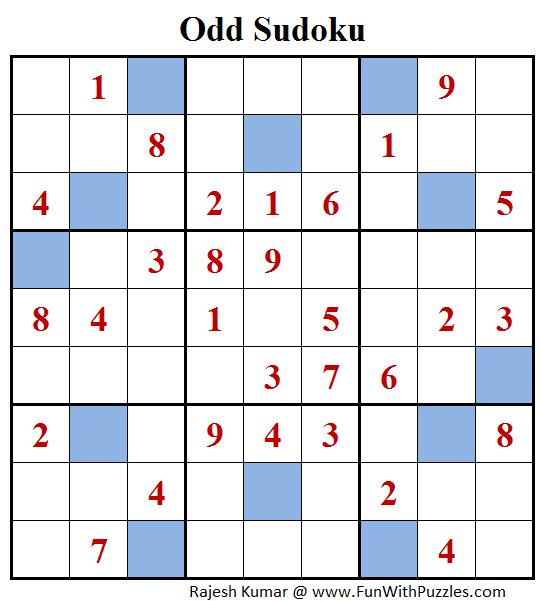 Odd Sudoku (Fun With Sudoku #124)