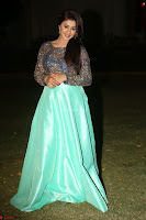 Nikki Galrani in Green Skirt  Top at Marakathamani music launch ~  Exclusive (144).JPG