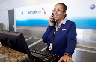 A Female Airline Customer Service Agent
