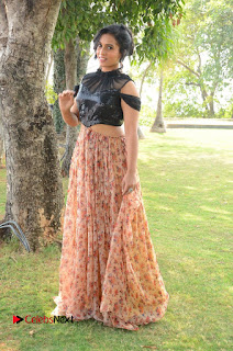 Actress Chetana Uttej Stills in Floral Long Skirt at Pichiga Nachav Movie Press Meet  0099.JPG