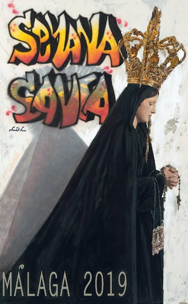 Cartel anunciador de la Semana Santa de Málaga 2019
