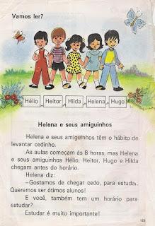 Leitura Helena e seus amiguinhos