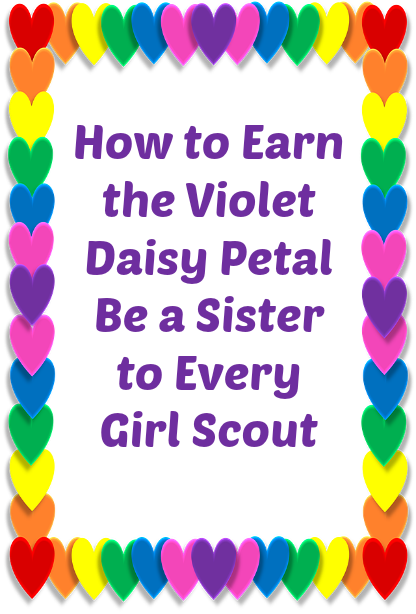 4 different meeting ideas for your troop to earn the Violet Daisy Petal