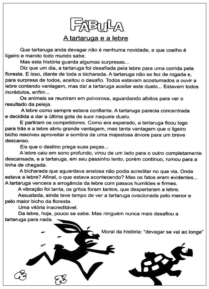 Rosearts Atividades Para Imprimir Fabula A Tartaruga E A Lebre