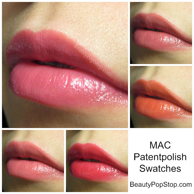 MAC Patentpolish Lip Pencil Swatches 2015