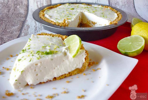 tarta de queso philadelphia sin horno con gelatina de limon