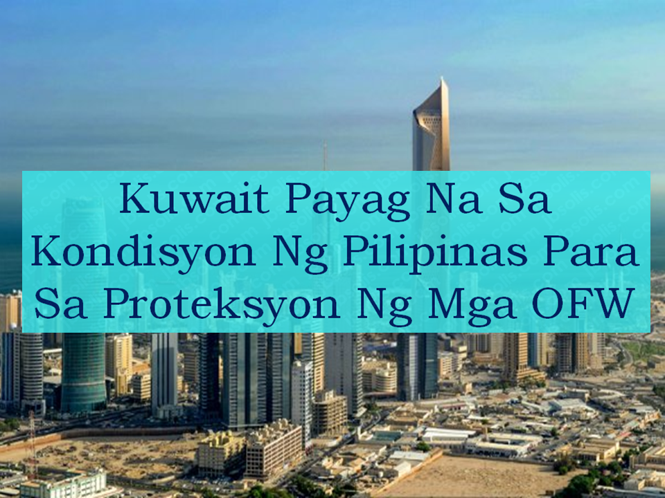 The Philippine government issued a total deployment ban for all overseas Filipino workers  (OFW) bound to Kuwait in the midst of many cases of abuse and maltreatment among them particularly those who are deployed as household workers. Issues such as delayed or non-payment of salary, no day-off, witholding of passport, inhumane treatment some resulting to death. The move is in accordance with President Rodrigo Duterte's initiative to protect its citizens.    Advertisement        Sponsored Links      Department of Labor and Employment Secretary Silvestre Bello III on Wednesday said that the Kuwaiti government agreed with the conditions presented by the Philippine government which seek to protect the safety and welfare of the OFWs working in their country. A memorandum of understanding (MOU) is now set to be signed between the two countries.  Among the conditions included in the MOU are the following:  —The employers has no right to confiscate or keep their employees mobile phone. —The employees must keep their passport with them. The employers has no right to keep it. —The employer cannot sell or transfer the employee to another employee.  However, even the MOU takes effect and justice for Joanna Demafelis, the OFW who was found inside the freezer, be served,  the deployment ban will only be lifted only to skilled workers. The MOU may also be imposed to other countries in the Middle east where there are huge numbers of OFWs to protect their rights and ensure their safety.   Read More:  Former Executive Secretary Worked As a Domestic Worker In Hong Kong Due To Inadequate Salary In PH    Beware Of  Fake Online Registration System Which Collects $10 From OFWs— POEA    Is It True, Duterte Might Expand Overseas Workers Deployment Ban To Countries With Many Cases of Abuse?  Do You Agree With The Proposed Filipino Deployment Ban To Abusive Host Countries?    ©2018 THOUGHTSKOTO  www.jbsolis.com