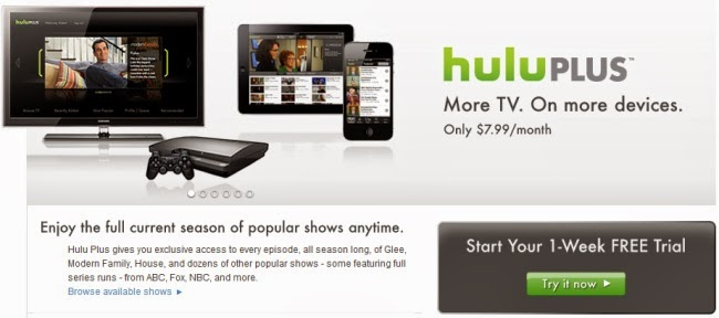 1 Month or a Week Hulu Plus Trial Code - Sign Up without Credit Card