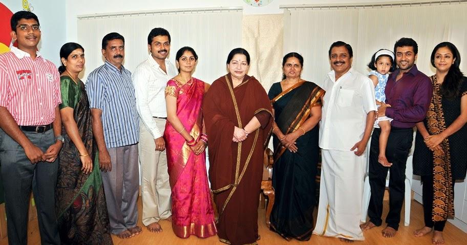 Indian Celebs: Surya , Jyothika , Diya And Karthi And His