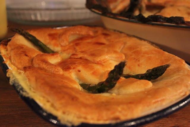vegetarian stargazy pie, The underground restaurant