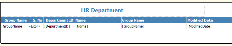 Group Name Column