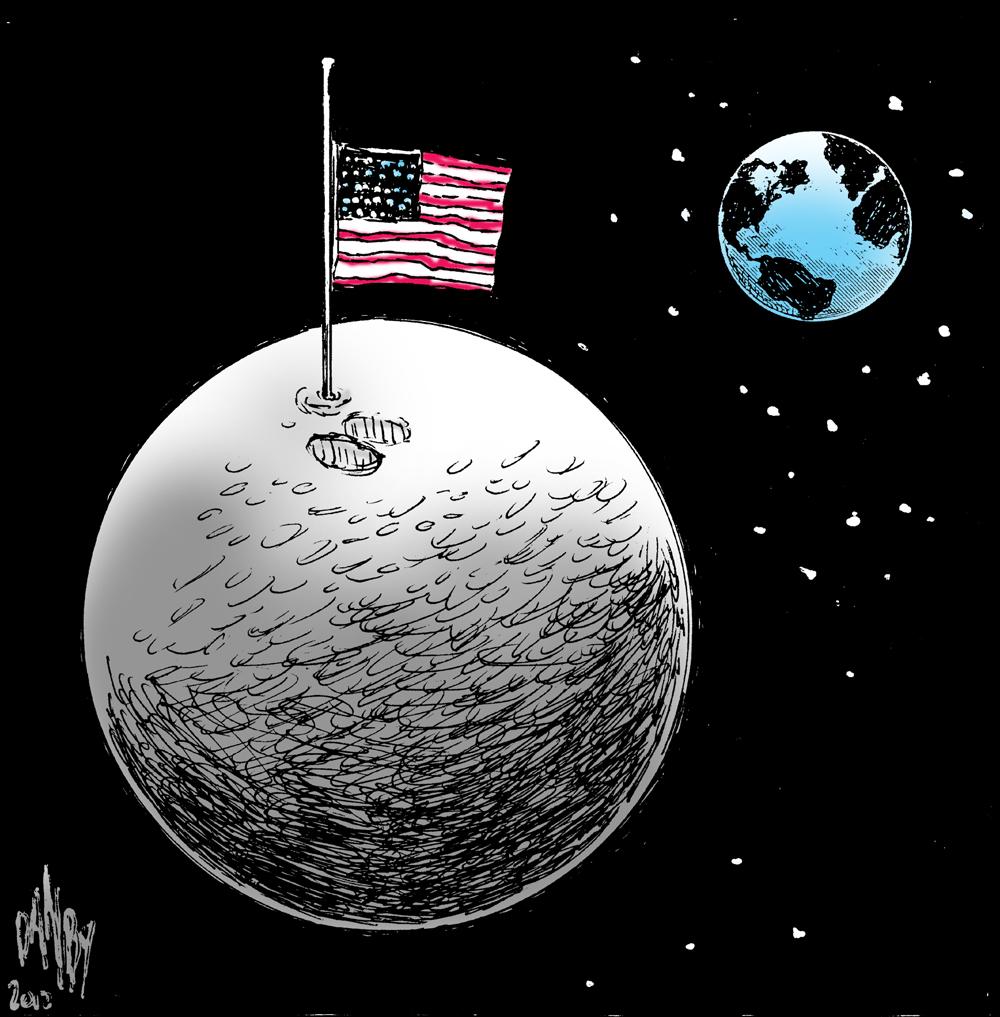 Matt's Sci/Tech Blog: Winner: Best Neil Armstrong Cartoon