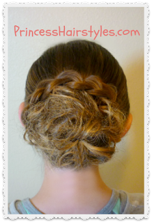 braid wrapped messy bun hair tutorial