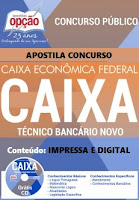 apostila concurso caixa pdf 2016 tecnico bancario impressa e digital