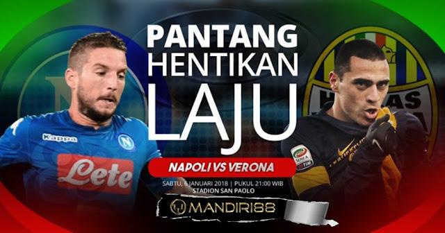 Prediksi Bola : Napoli Vs Hellas Verona , Sabtu 06 January 2018 Pukul 21.00 WIB