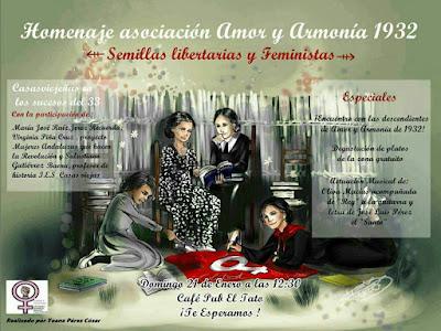 Cartel de la Jornada de Homenaje a las mujeres de Casas Viejas