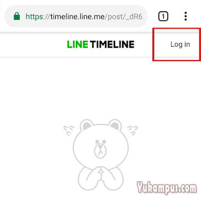 login line di browser