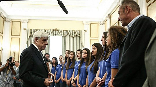 Greek President commends handball team for refusing to play Macedonia