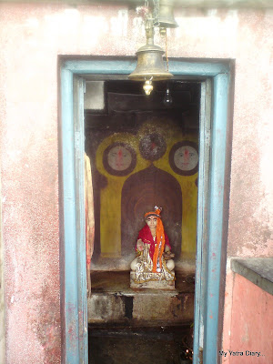 Idol of Adi Shankaracharya just a few steps down the main  Badrinath temple