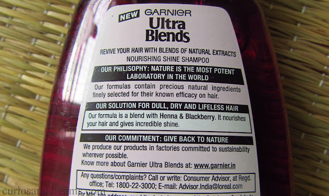 Garnier Ultra Blends Nourishing Shine Shampoo review