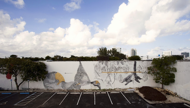 Street Art Collaboration By Pastel and 2501 in Wynwood, Miami For The Mirorless Project. 2