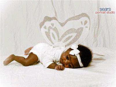 mercy johnson baby flying angel