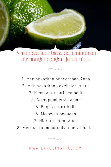 manfaat minum jeruk nipis hangat setiap pagi
