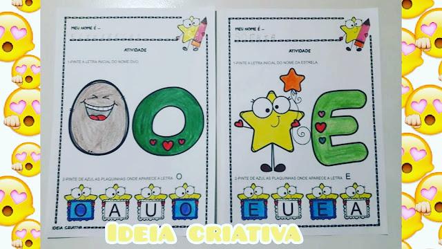 Atividades com vogais para turmas de Educação Infantil