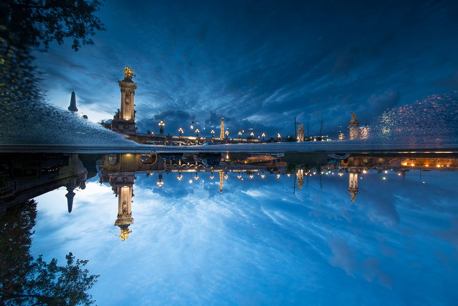 6. Blue hour at Paris - up and down by Eloy RICARDEZ