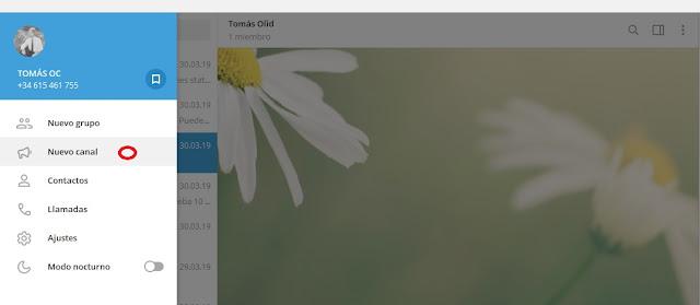 Crear canal de Telegram