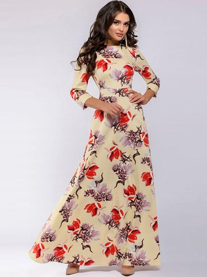 https://www.dresssure.com/products/chic-bohemia-elegent-print-3-4-sleeve-cotton-o-neck-long-dress