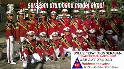 1.baju drumband terbaru -pakaian drumband terbaik seragam topi kostum drumband terbaik