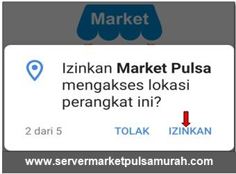 Izinkan Market Pulsa mengakses lokasi perangkat ini