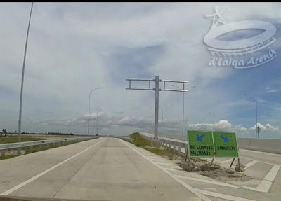kiri ke Bandar Lampung atau Palembang, kanan ke Bakauheni