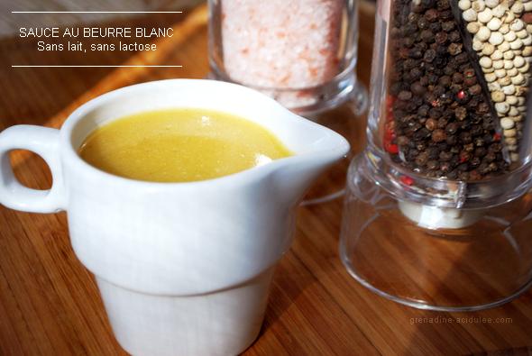Cuisine Sauce Au Beurre Blanc Sans Lait De Vache Sans Lactose