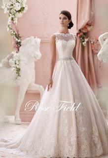 Wedding Dresses: Suli, Modest A-line Sheer Sweetheart Appliqued Lace Beaded Belt Backless Wedding Dress 2015